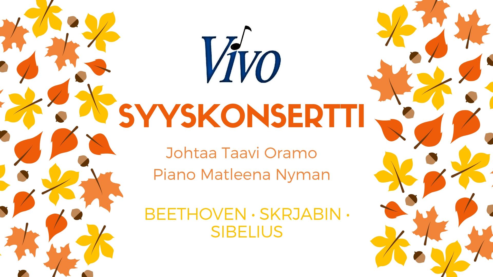 You are currently viewing MENNYTTÄ: Syyskonsertti Hyvinkääsalissa 21.10. klo 16